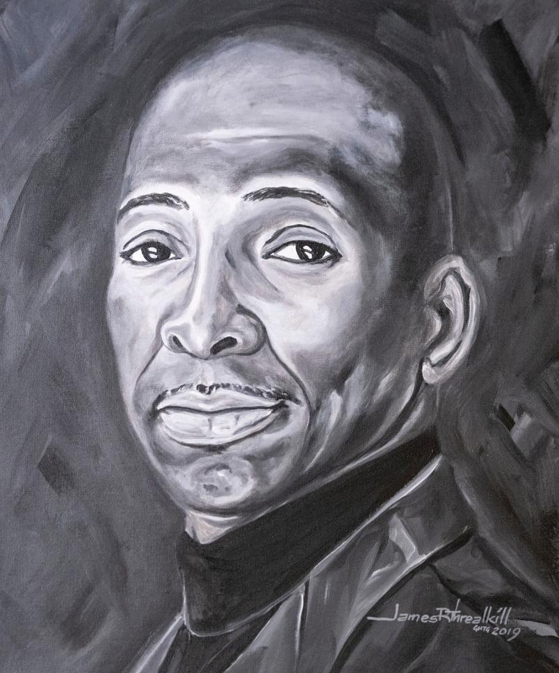 Legacy Pioneer Portrait of Associate Dean Frank Dobson by James Threalkill. (John Russell/Vanderbilt University)