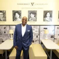 James Threalkill, BS'79, painted the Legacy Pioneer Portraits. (Vanderbilt University/Joe Howell)