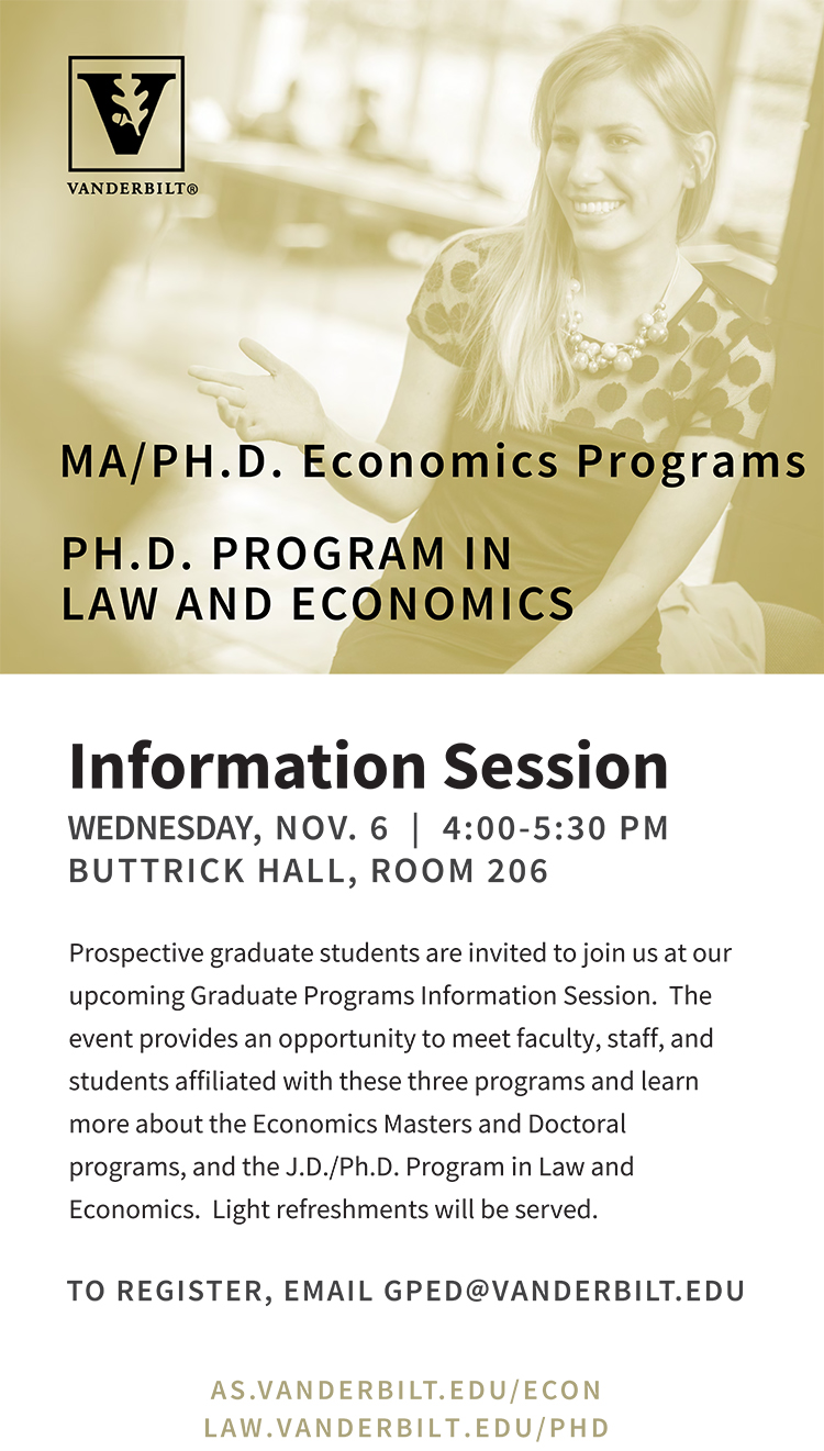 Graduate programs in economics flyer