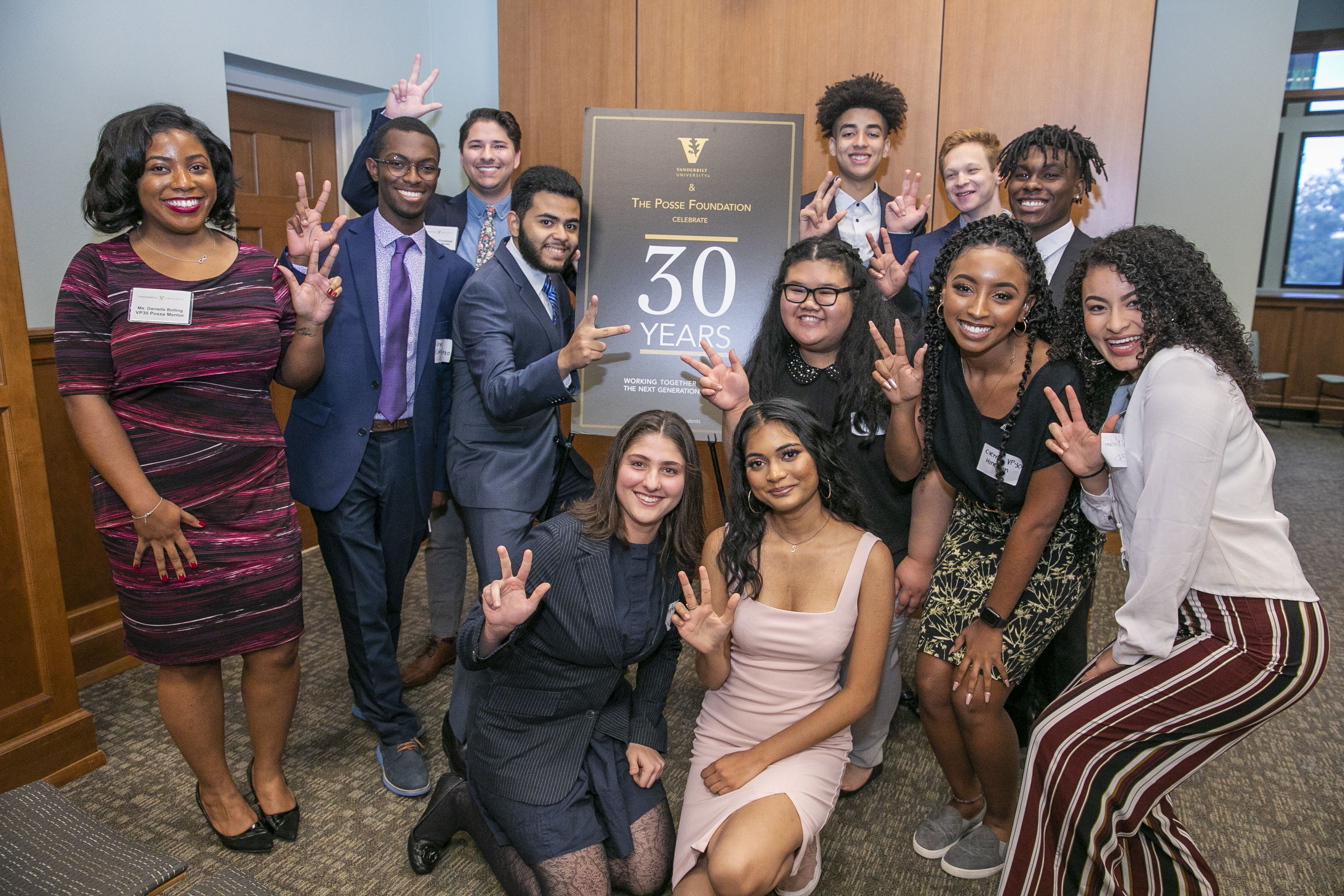 Posse Scholars program celebrates 30th anniversary. (Anne Rayner/Vanderbilt)