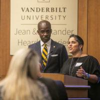 Shirley M. Collado, BS'94 and Kito Huggins, BS'96, JD'99, spoke at the Posse Scholars program 30th anniversary celebration (Anne Rayner/Vanderbilt)