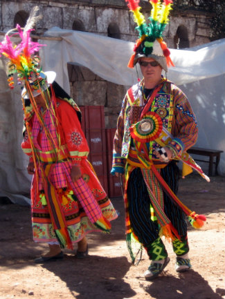 Associate Professor of Anthropology John W. Janusek was a devoted participant in Andean rituals and celebrations (courtesy of Professor Andy Roddick)