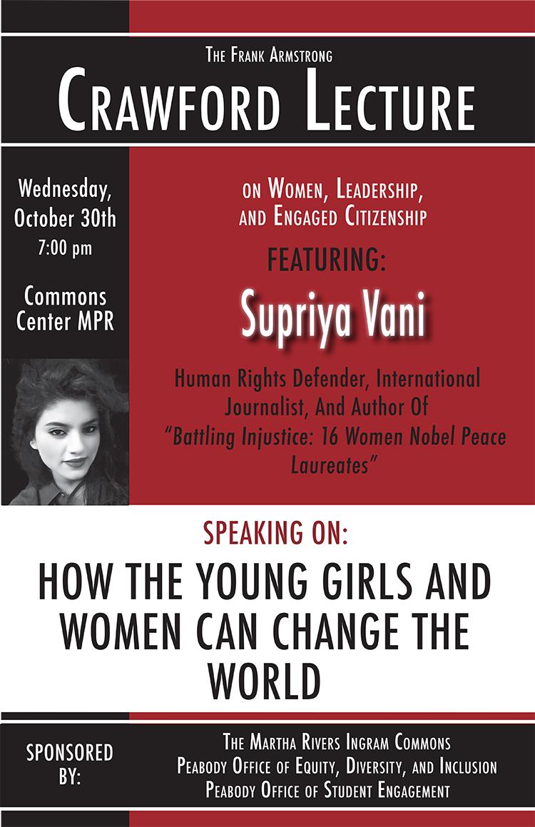 Supriya Vani Crawford Lecture 2019 poster