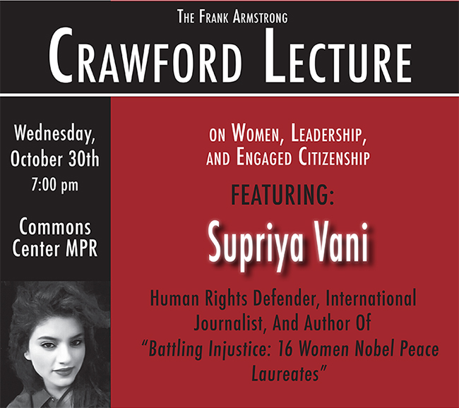 Supriya Vani Crawford Lecture 2019