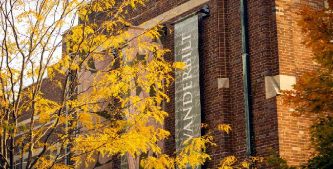 exterior of Central Library during fall (by Daniel Dubois/Vanderbilt University)