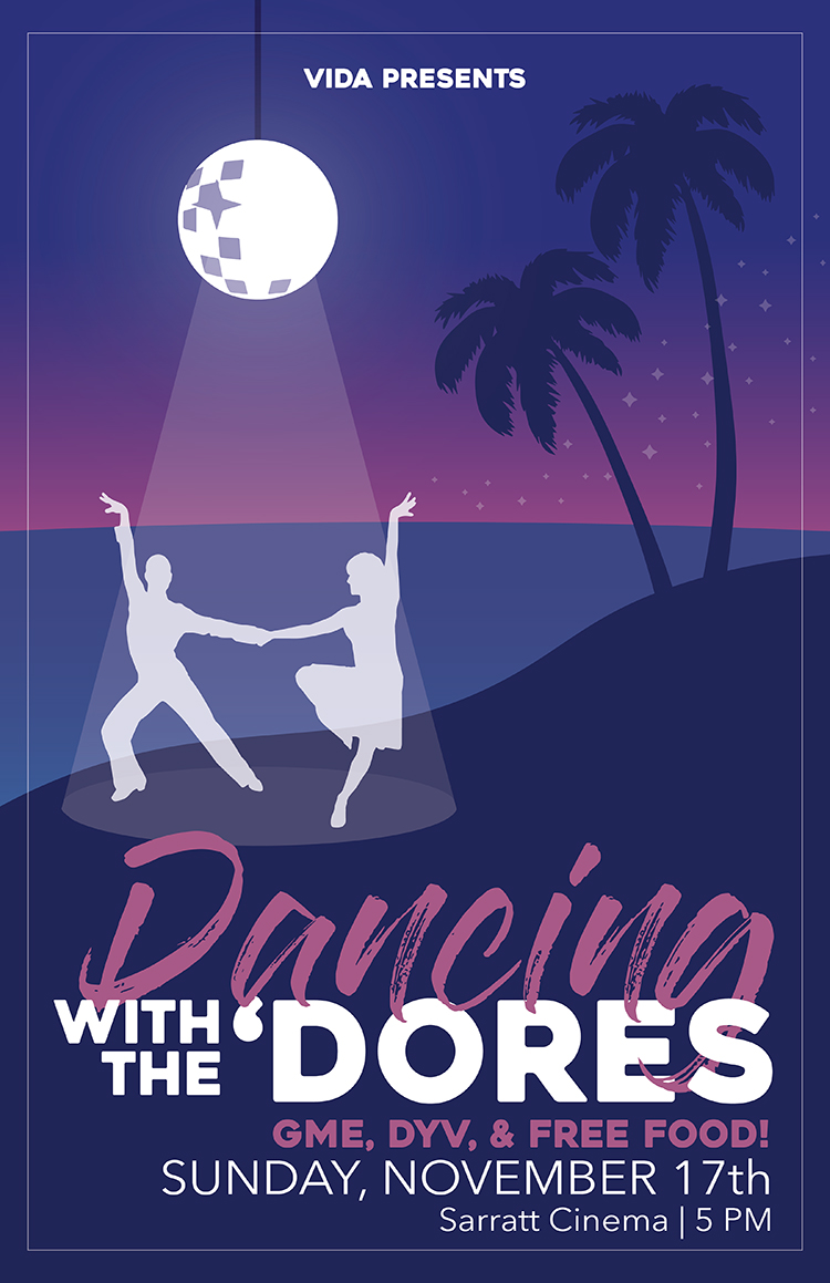 The annual Dancing with the 'Dores showcase is scheduled from 5 to 8:30 p.m. Sunday, Nov. 17, in Sarratt Cinema. The event will feature performances by Vida Latin Dance and the campus a cappella groups Harmonic Notion and Melanated.