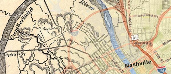Partial map of Nashville