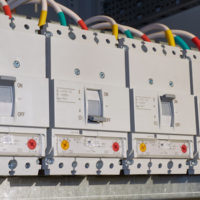 Four power circuit breakers