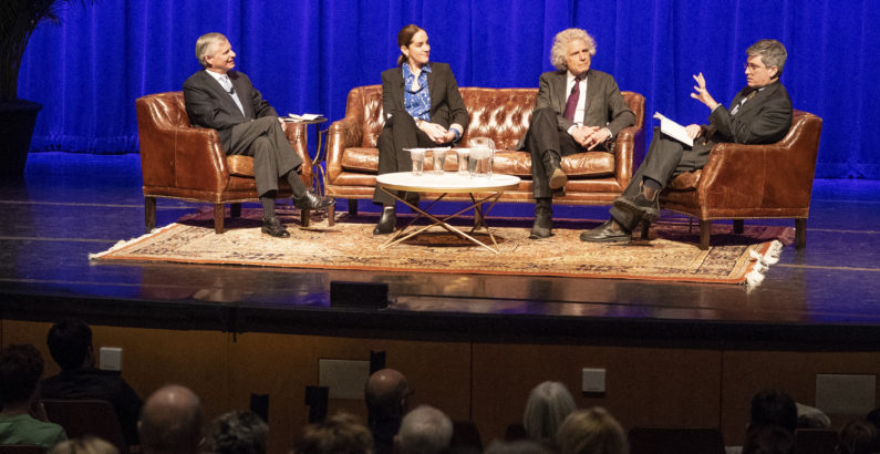 Chancellor's Lecture panelists Little, Pinker and Zimmer explore why divisions persist in an age of abundant data