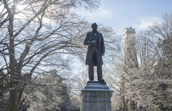 Commodore Cornelius Vanderbilt statue (Daniel Dubois/Vanderbilt University)