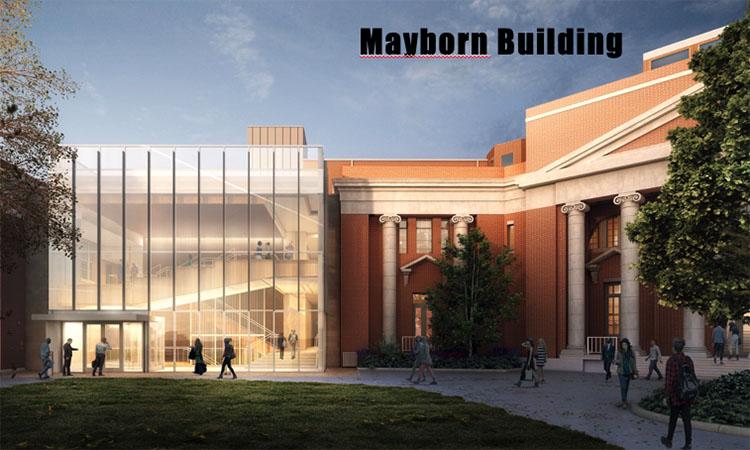 Rendering of the renovated Mayborn Building and the connector building between Mayborn and the Home Economics Building. (Vanderbilt University)