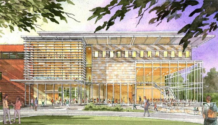 Conceptual rendering of the Owen Graduate School of Management. (Vanderbilt University)