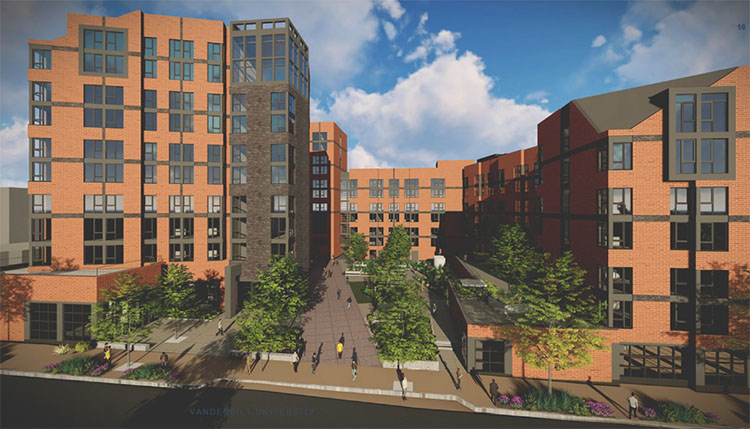 Conceptual renderings of the future Graduate and Professional Student Village. (courtesy of Lendlease/Valerio DeWalt Train)