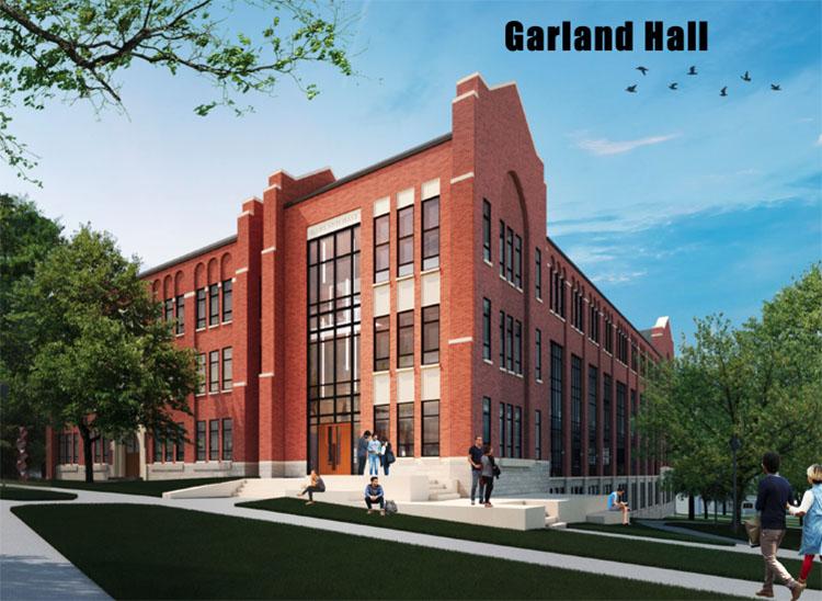 Rendering of renovations to Garland Hall in the Historic Core neighborhood. (Vanderbilt University)