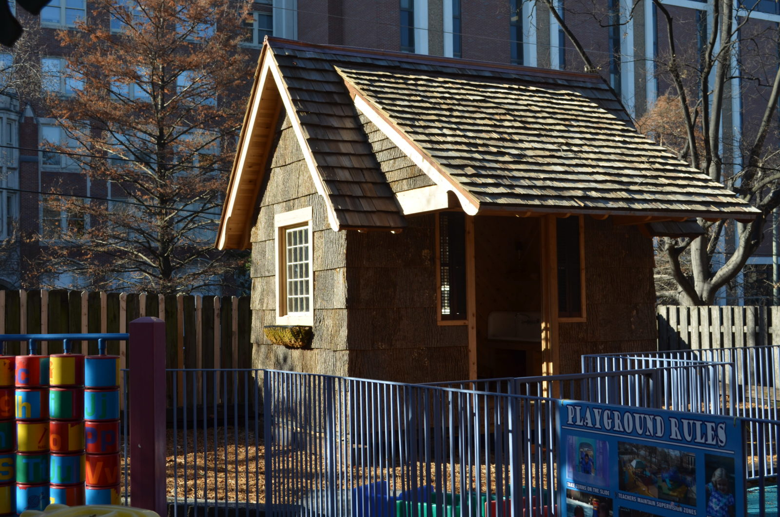 "The ""Peter Rabbit House"" at The Susan Gray School. (photo by Jessica Beckmann/Vanderbilt)"