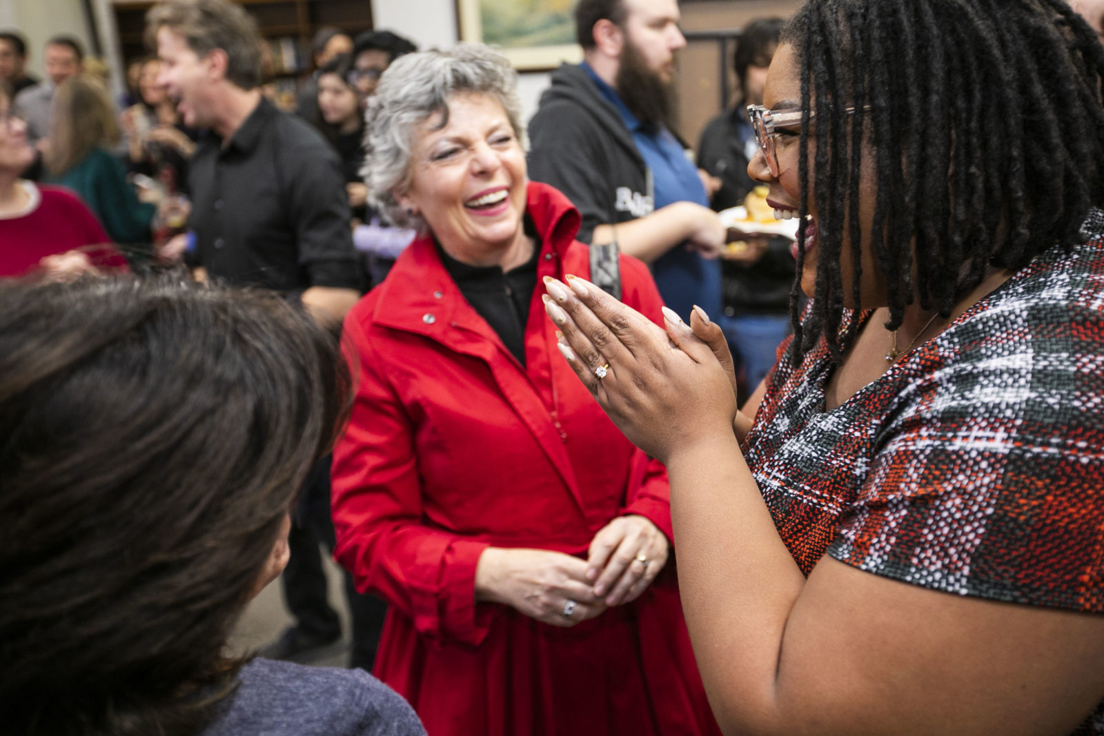 More than 60 faculty and staff from the department, along with Patricia and Rodes Hart Dean of Education and Human Development Camilla P. Benbow, were present when Armstead received the Heart and Soul Staff Appreciation Award. (Anne Rayner/Vanderbilt)