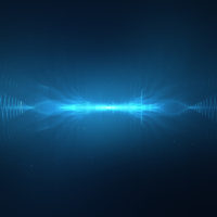 Abstract digital sound wave