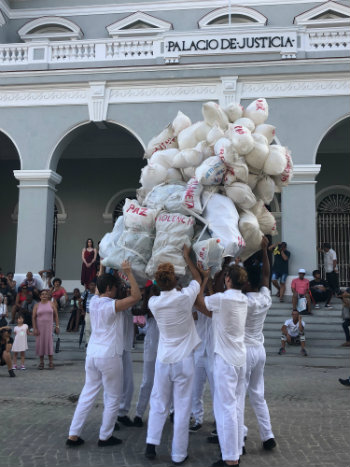 'Cargas' final performance during 2019 Havana Biennial in Matanzas, Cuba