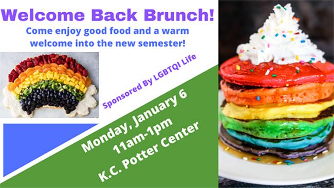 LGBTQI Life Welcome Back Brunch Jan. 6