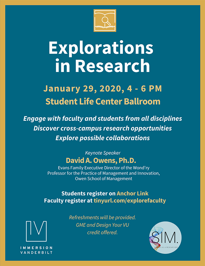 Explorations in Research poster