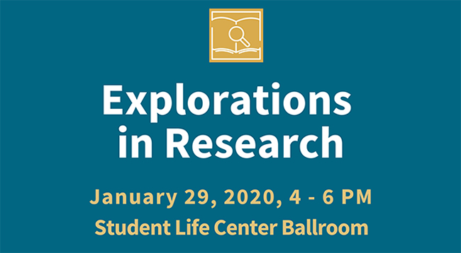 Explorations in Research networking event set for Jan. 29