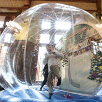 The snow globe bounce activity at 2019 Turkey Toss (Joe Howell/Vanderbilt)