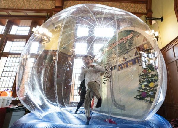 The snow globe bounce activity at 2019 Turkey Toss (Joe Howell/Vanderbilt)