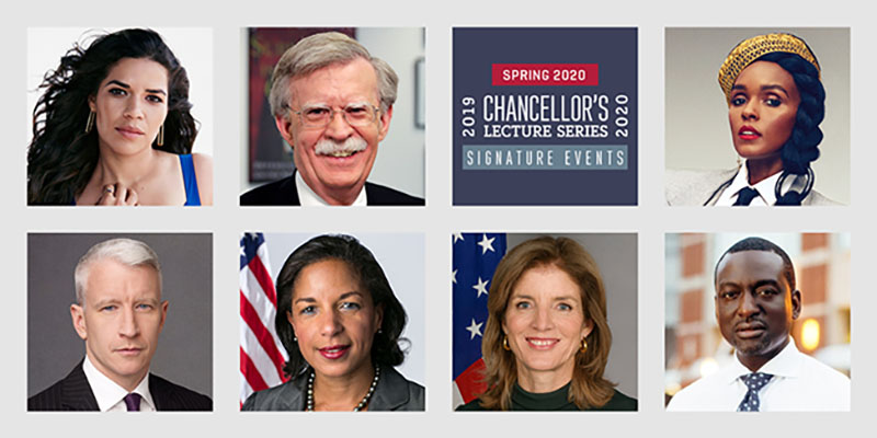Chancellor's Lecture Series Spring 2020 lineup banner image
