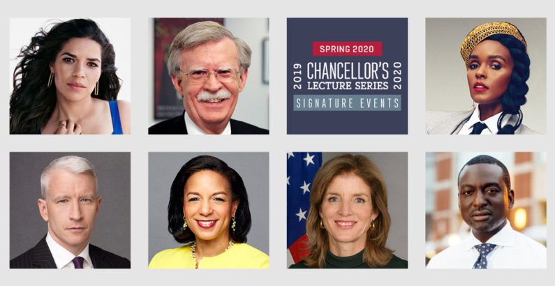 Cooper, Ferrera, Bolton, Rice to speak at spring Chancellor's Lecture Series