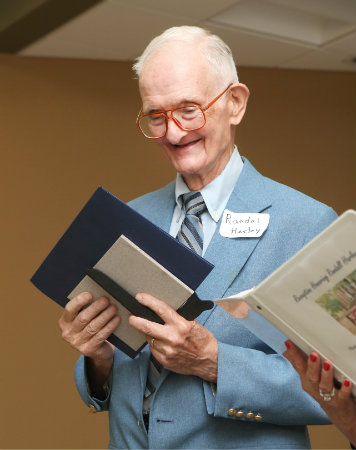 Randall Harley Jr. honored at Peabody reception in 2012 (Susan Urmy/Vanderbilt University)