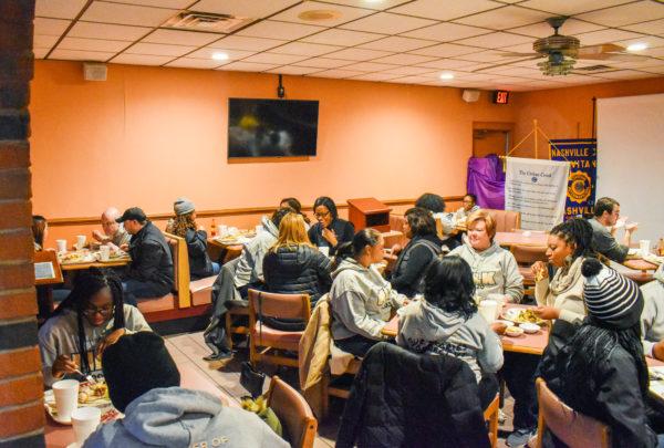 The Freedom Ride Tour made a stop at Swett's Restaurant.(Jalen Blue/Vanderbilt)