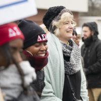 2020 MLK Day March in Nashville starting at Jefferson Street and finishing at TSU's Gentry Center. Vanderbilt students, faculty, staff and university leadership, including Interim Chancellor and Provost Susan R. Wente, took part in the march and convocation. (Vanderbilt University/Joe Howell)