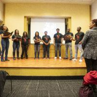 Melanated A Cappella performed at the MLK Commemorative Series Kickoff event. (Vanderbilt University/Joe Howell)
