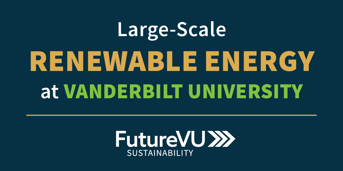 Large Scale Renewable Energy at Vanderbilt University graphic