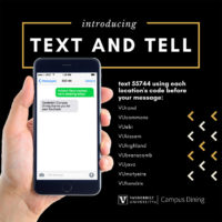 Vanderbilt Campus Dining Text and Tell