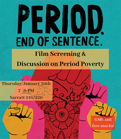 Period. End of Sentence. flyer