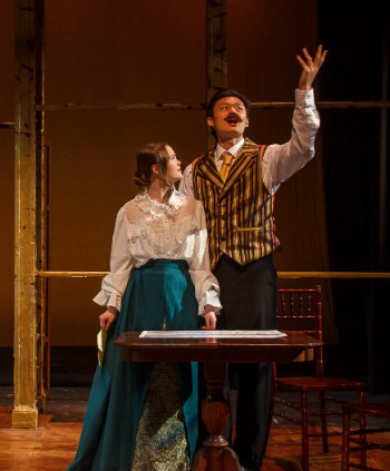 Left to right: Kacy Jones in the role of Yelena, Jesse Feng in the role of Astrov (courtesy of Phillip Franck/Vanderbilt University)