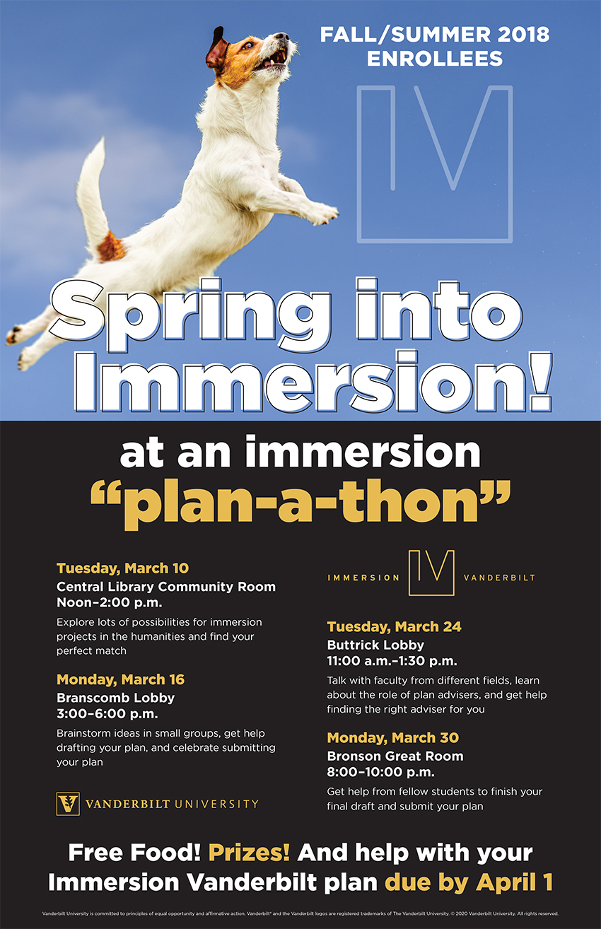 Spring Into Immersion 2020 poster