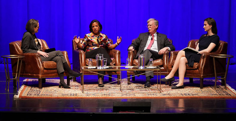 Bolton, Rice offer expert view of U.S. foreign policy process at Chancellor's Lecture