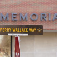 A portion of 25th Avenue South was dedicated in honor of Vanderbilt trailblazer and Nashville native, Perry Wallace, BE'70, the first African American to play varsity basketball in the Southeastern Conference.
