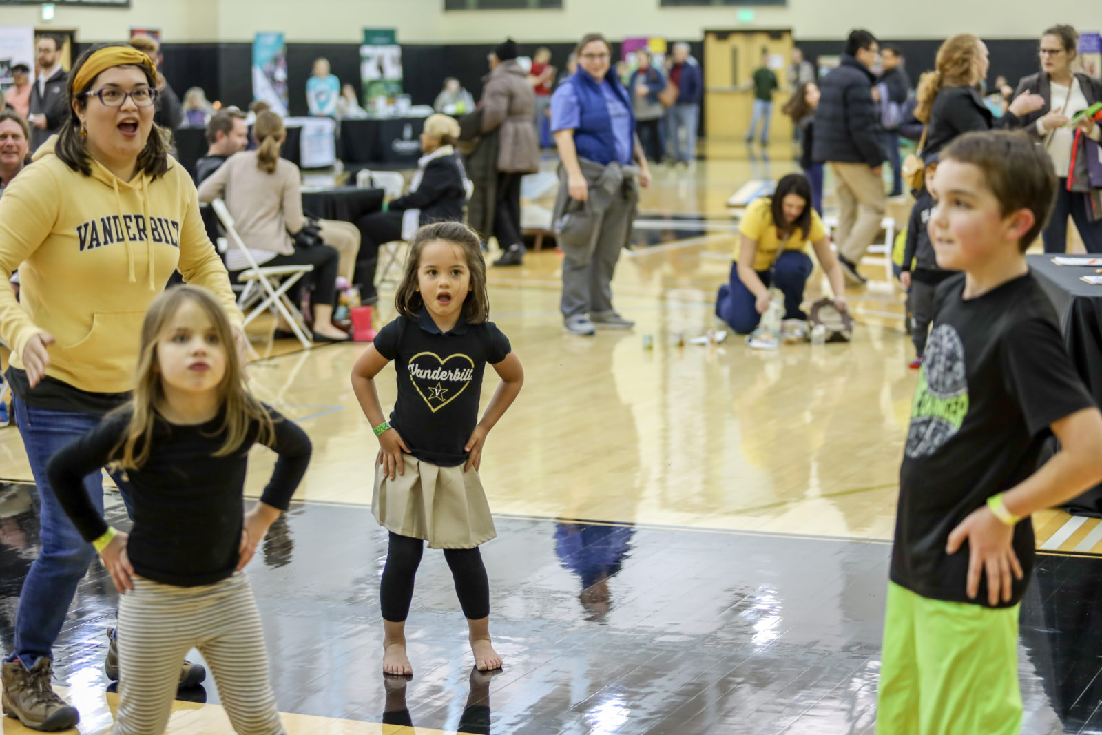 Family Fest, held in the Memorial Practice Gym, featured games, inflatables and other fun activities for Vanderbilt employees and their family members. (Vanderbilt University)