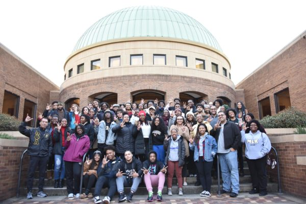 The first stop on the Black History Immersion Excursion was a visit to the Birmingham Civil Rights Institute. (Rosevelt Noble/Vanderbilt)