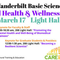 Vanderbilt Basic Sciences Mental Health and Wellness Summit March 17