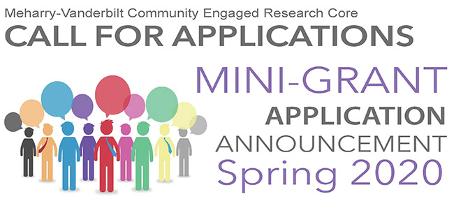 Meharry-Vanderbilt Community Engaged Research Core spring 2020 mini-grant proposals