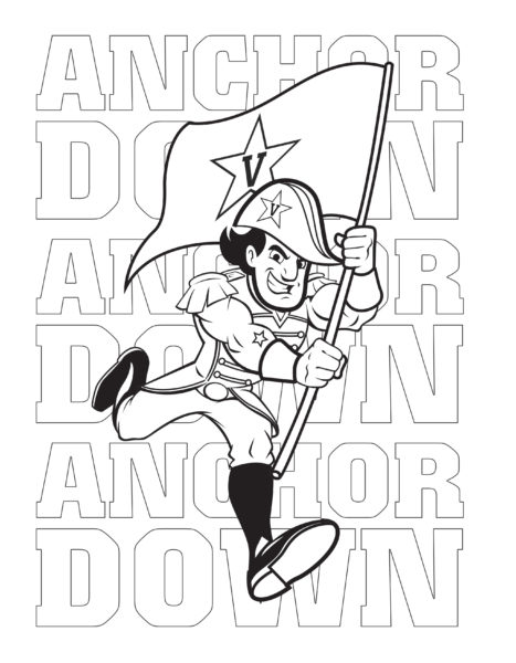 Mr. C Anchor Down coloring activity page
