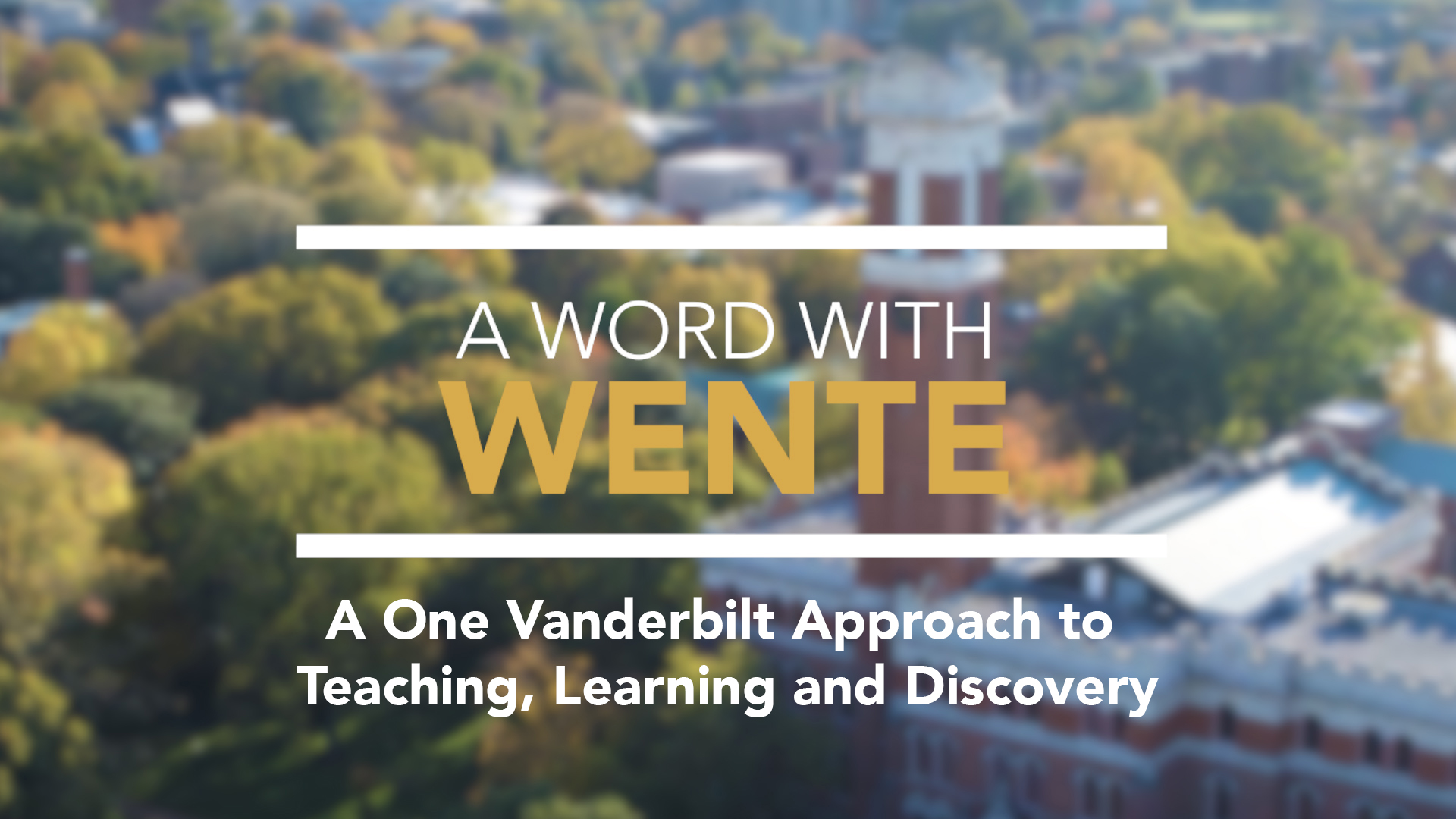 A Word with Wente
