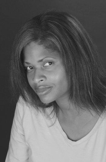 black-and-white headshot photo of Tracy Sharpley-Whiting