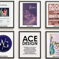 A new exhibit available onlinecelebrates the work of the talented student artists who comprise Vanderbilt's ACE Design team. (Collection of art pieces on the wall)