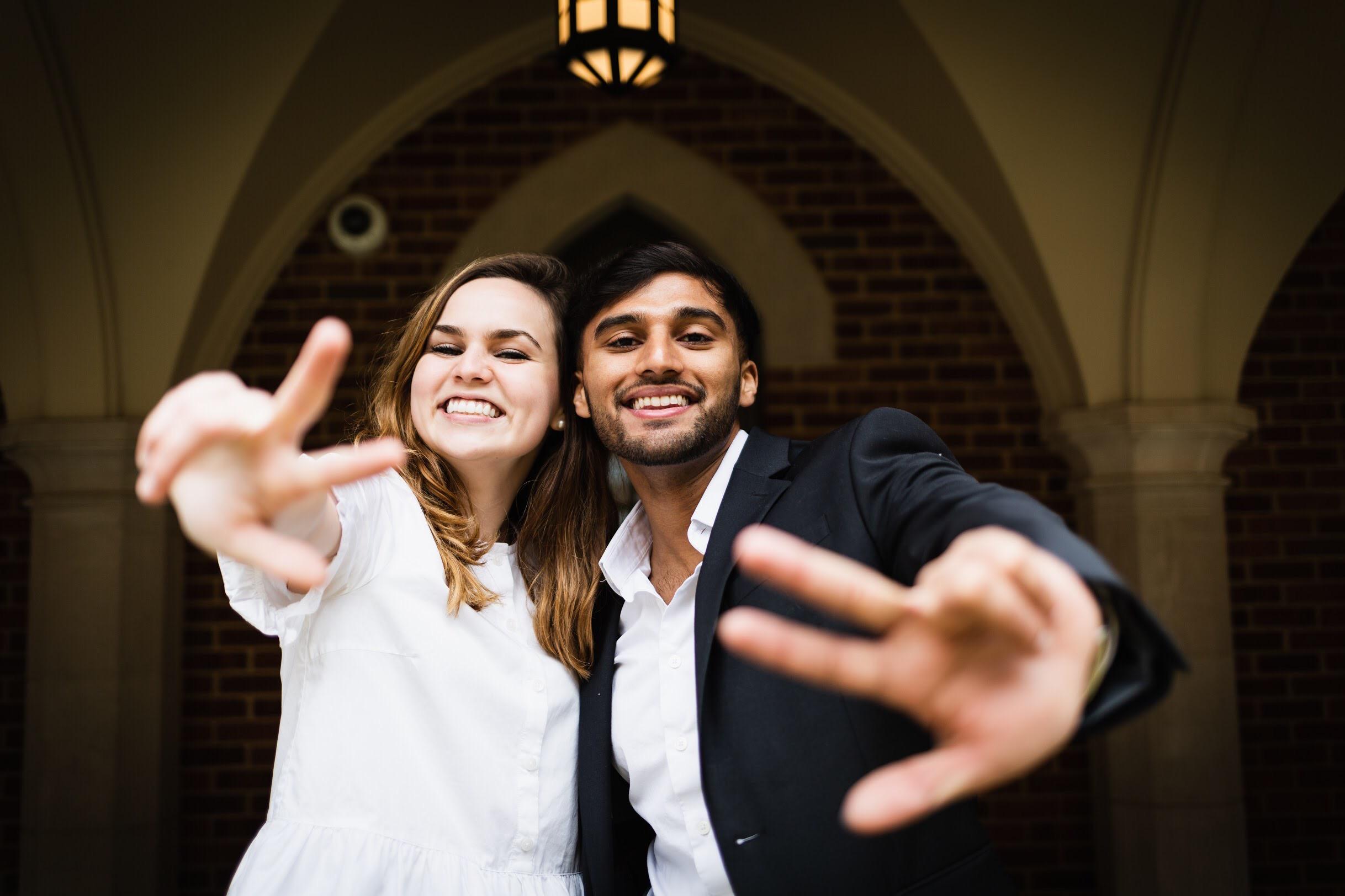 VSG 2019-20 Student Body President Frances Burton (left) and Vice President Veer Shah.
