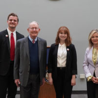 (L-r) Barton Christmas, Sen. Lamar Alexander (R-TN), Miranda Cross, and Sen. Marsha Blackburn (R-TN).